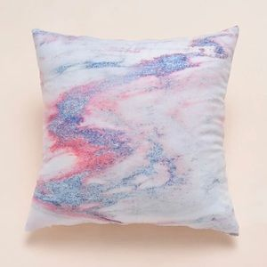 Pink Purple Marble Accent Pillow Case